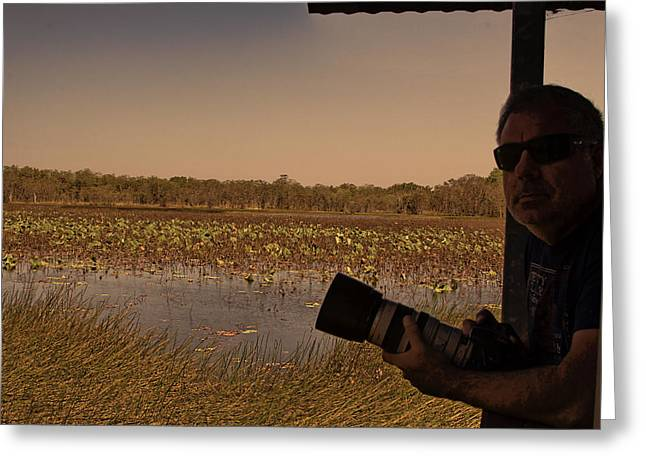Mistake Greeting Cards - At Mistake Billabong Kakadu National Park Greeting Card by Douglas Barnard