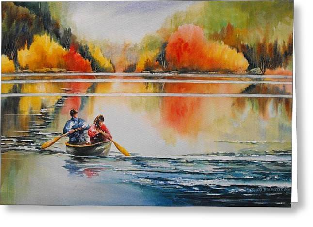 Bannister Paintings Greeting Cards - At Peace In Algonquin Greeting Card by Debra  Bannister