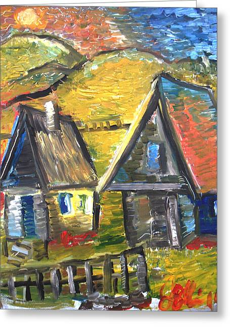 Shed Greeting Cards - At Peace  Greeting Card by Jon Baldwin  Art