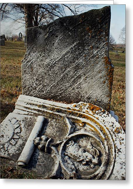 Headstones Greeting Cards - At Rest Greeting Card by Off The Beaten Path Photography - Andrew Alexander
