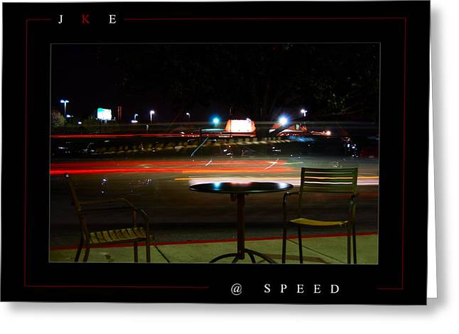 Night Cafe Digital Art Greeting Cards - At Speed Greeting Card by Jonathan Ellis Keys