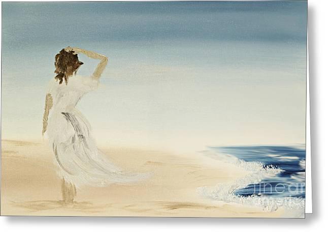 At The Beach Greeting Card by Andreas Berheide