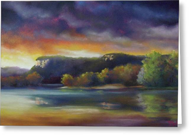 Set Pastels Greeting Cards - At the Break of Dawn Greeting Card by Marcus Moller