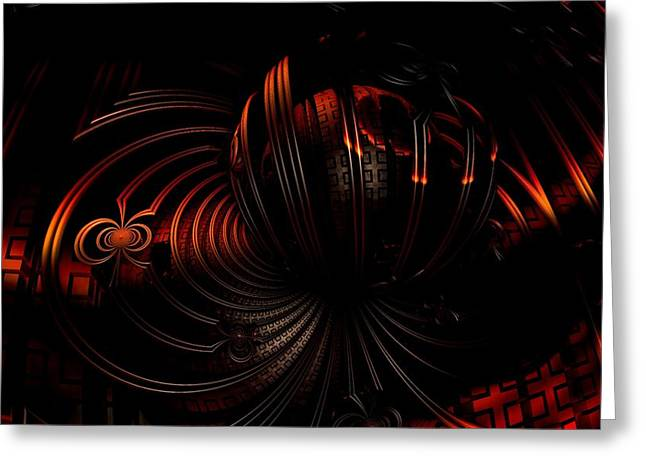 Fractal Greeting Cards - At the Crack of Dawn Greeting Card by Ricky Jarnagin