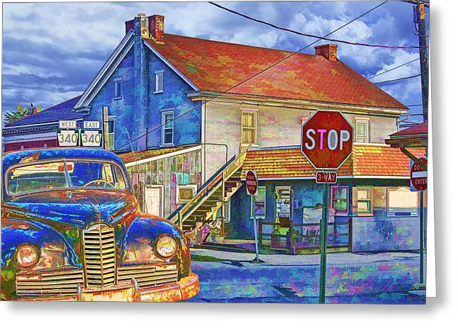 At The Crossroads Greeting Card by Randall Nyhof