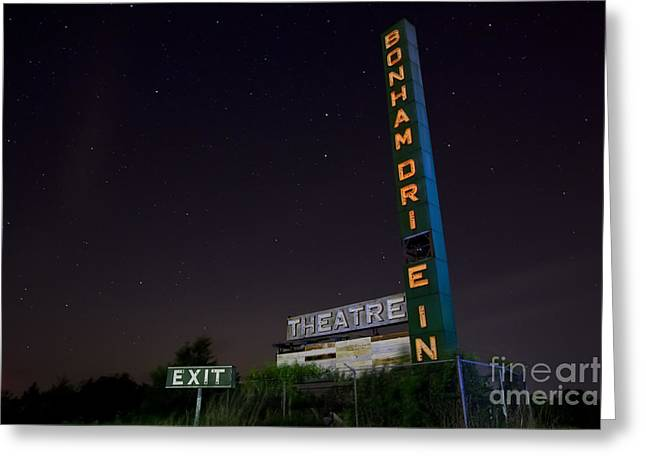 Movie Theater Greeting Cards - At the Drive In Movie Theater  Greeting Card by Keith Kapple