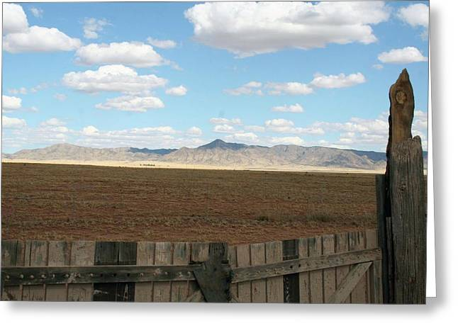 Best Sellers -  - Mining Photos Greeting Cards - At The Gate Greeting Card by Robin DesJardins