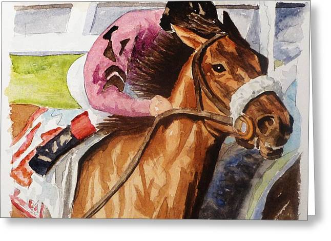 Don Bosley Greeting Cards - At the Wire Greeting Card by Don Bosley