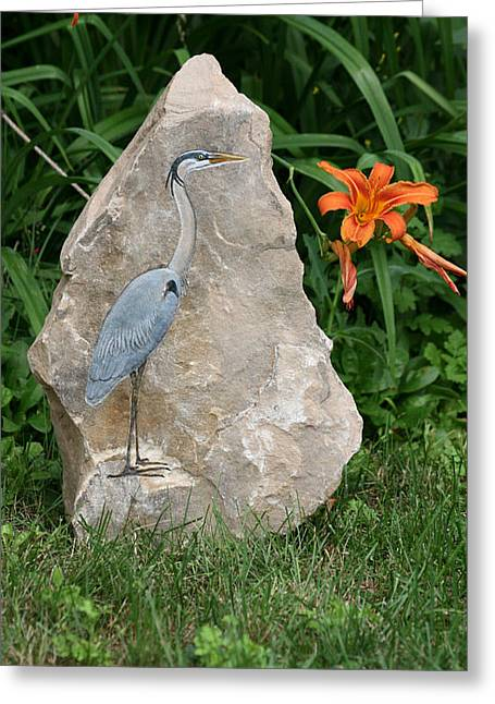 Pet Reliefs Greeting Cards - At Waters Edge Greeting Card by Ken Hall