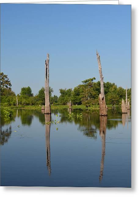 River Flooding Greeting Cards - Atchafalaya Basin 19 Greeting Card by Maggy Marsh