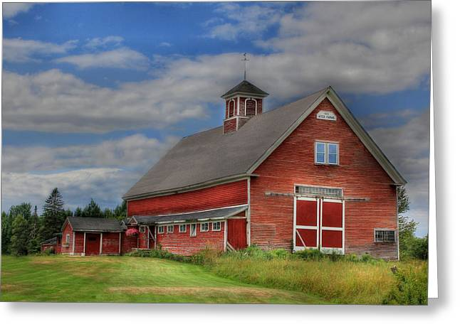 Old Maine Barns Greeting Cards - Atco Farms - 1920 Greeting Card by Lori Deiter
