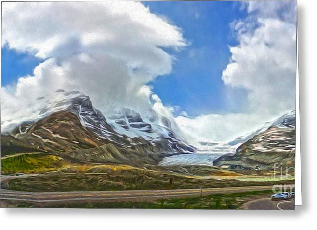 Gregory Dyer Greeting Cards - Athabasca Glacier - 02 Greeting Card by Gregory Dyer