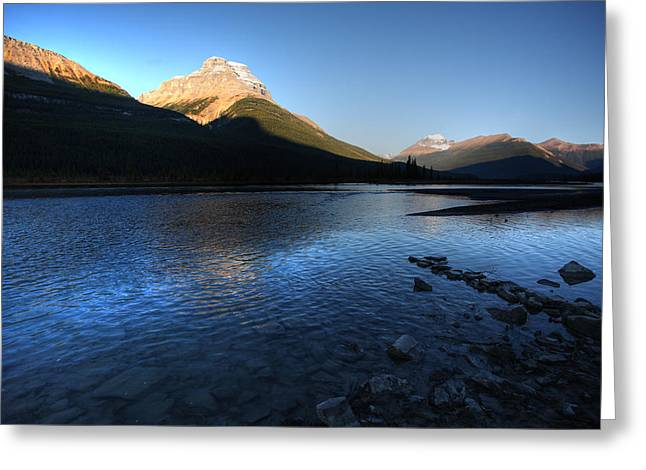 Fall River Scenes Digital Greeting Cards - Athabasca River in Jasper National Park Greeting Card by Mark Duffy