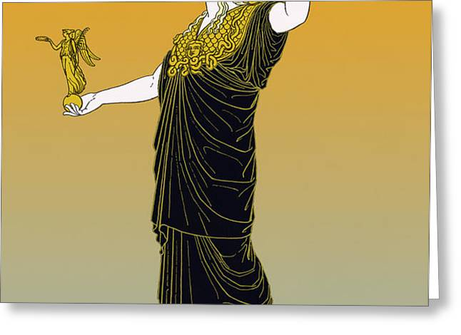 Athena, Greek Goddess Greeting Card by Photo Researchers