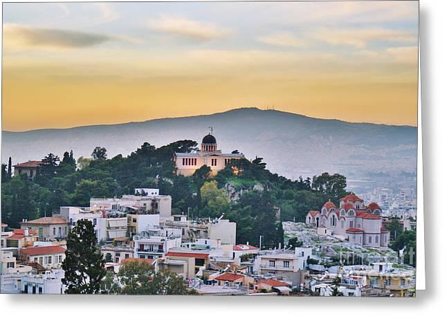 Acropolis Greeting Cards - Athens - Greece Greeting Card by Hristo Hristov