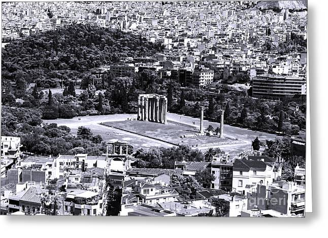 Greek School Of Art Greeting Cards - Athens Cityscape IV Greeting Card by John Rizzuto