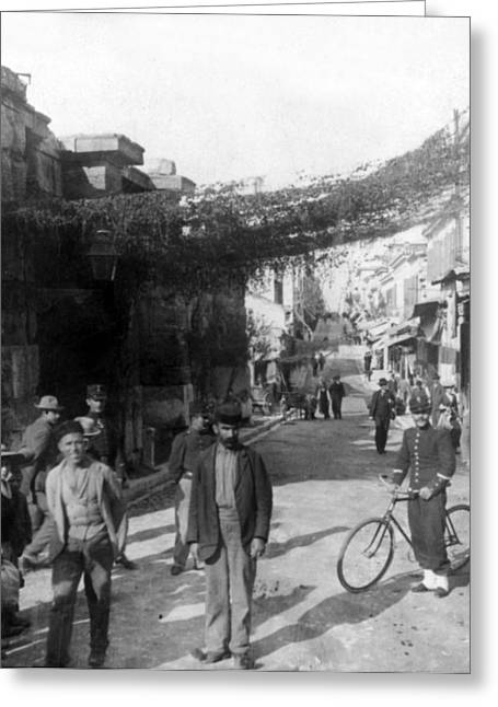 Athens Greece  C 1903 - Aeolos Street And The Stoa Of Hadrian Greeting Card by International  Images
