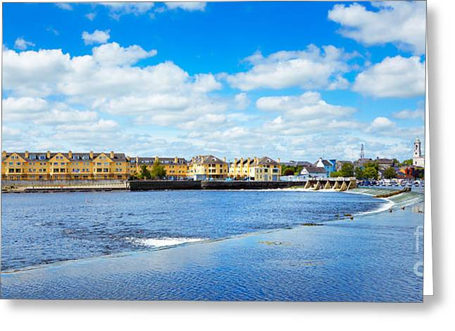 Famous Bridge Greeting Cards - Athlone city and Shannon river Greeting Card by Gabriela Insuratelu