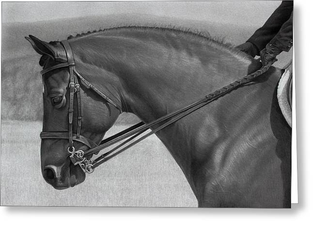 Graphite Drawing Greeting Cards - Athos Greeting Card by Tim Dangaran