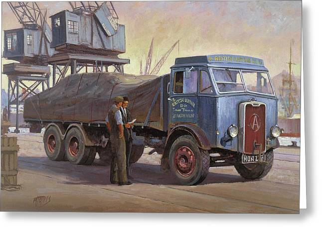 Original For Sale Greeting Cards - Atkinson at the docks Greeting Card by Mike  Jeffries