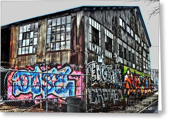 Photographers Dacula Greeting Cards - Atlanta Graffiti Warehouse Greeting Card by Corky Willis Atlanta Photography