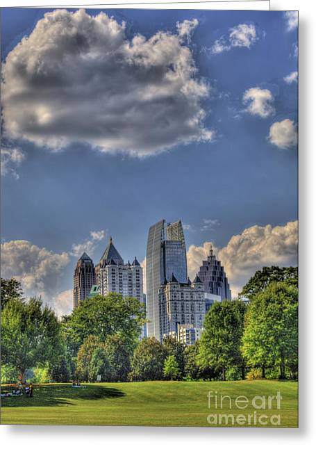 Photographers Decatur Greeting Cards - Atlanta Piedmont Park View Greeting Card by Corky Willis Atlanta Photography