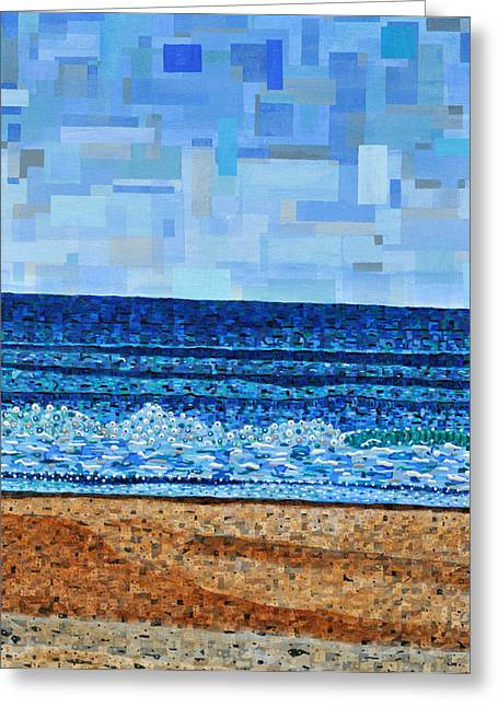 North Carolina Paintings Greeting Cards - Atlantic Beach in July Greeting Card by Micah Mullen