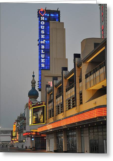 Hob Greeting Cards - Atlantic City House of Blues Greeting Card by Bill Cannon
