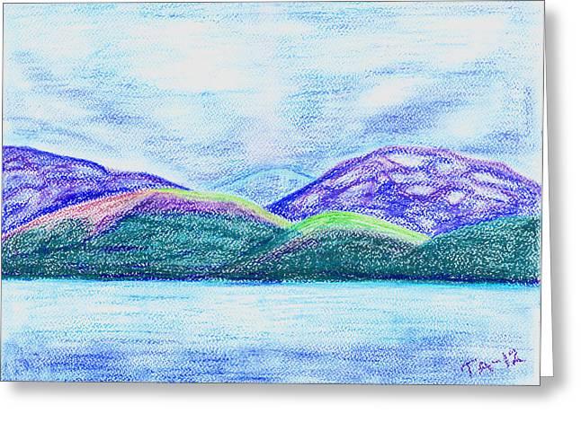 Atlantic Mountains Greeting Card by Taruna Rettinger