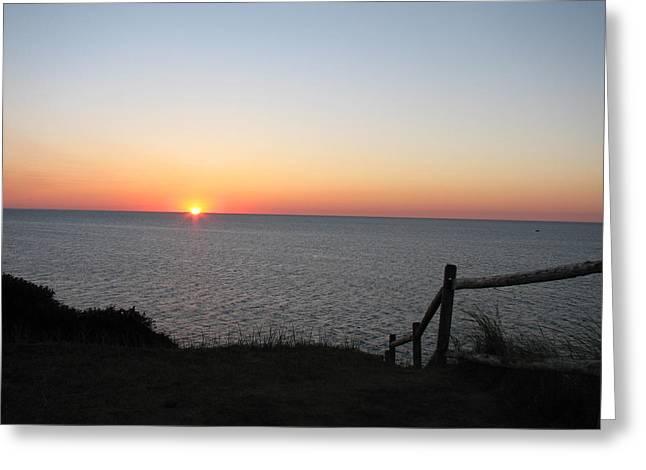 Gurnet Light Greeting Cards - Atlantic Sunrise Greeting Card by Brian Mazzoli