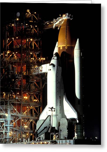 Space Shuttle Photographs Greeting Cards - Atlantis Greeting Card by Gerard Fritz