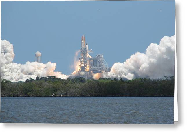 Atlantis Lift Off Greeting Card by Keith Stokes