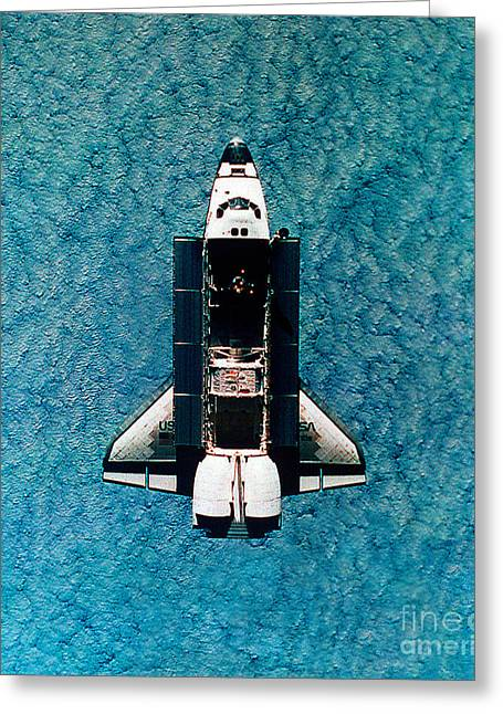 Atlantis Greeting Cards - Atlantis Space Shuttle Greeting Card by Science Source