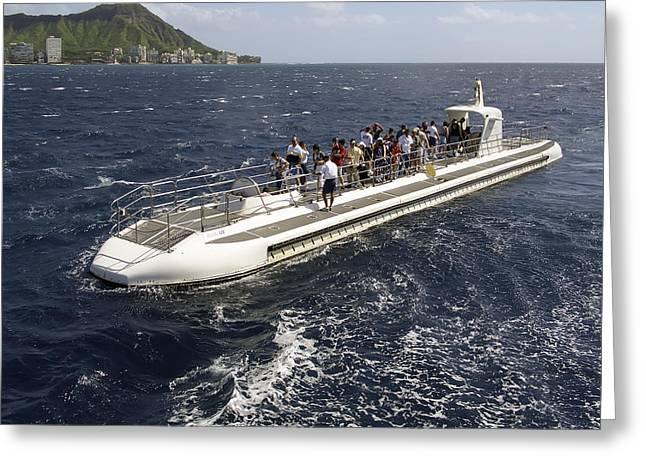 Atlantis Submarine - Waikiki Bay Hawaii Greeting Card by Daniel Hagerman