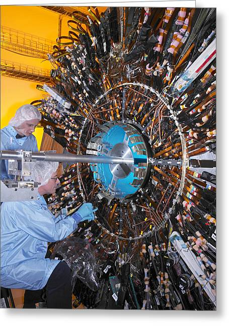 Particle Detector Greeting Cards - Atlas Detector, Cern Greeting Card by David Parker