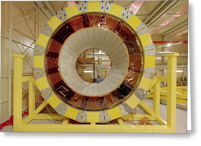Cern Greeting Cards - Atlas Detector Module Greeting Card by David Parker