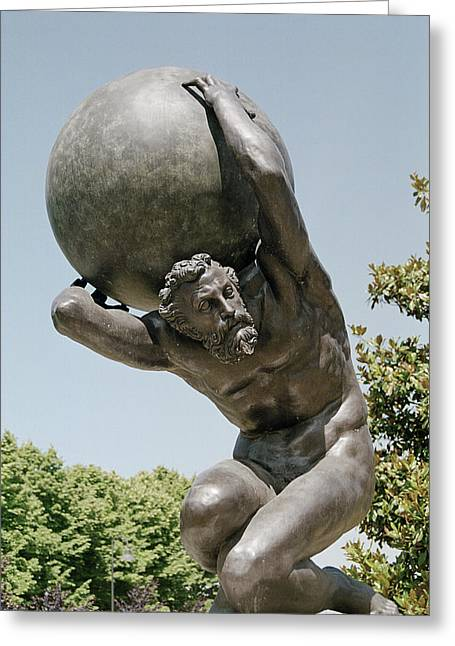 Greek Sculpture Greeting Cards - Atlas Greeting Card by Sheila Terry