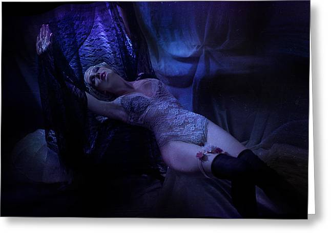Posters Of Nudes Photographs Greeting Cards - Atmosphere Greeting Card by Agnessa Belvede