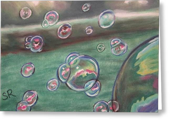 Picnic Pastels Greeting Cards - Atmospheres Summer Bubbles Greeting Card by Sandra Ragan