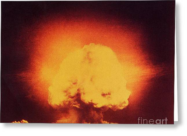 Atomic Bomb Explosion Greeting Card by Science Source