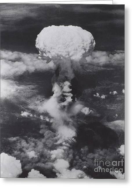 Atom Bomb Greeting Cards - Atomic Bomb, Hiroshima, 1945 Greeting Card by Science Source