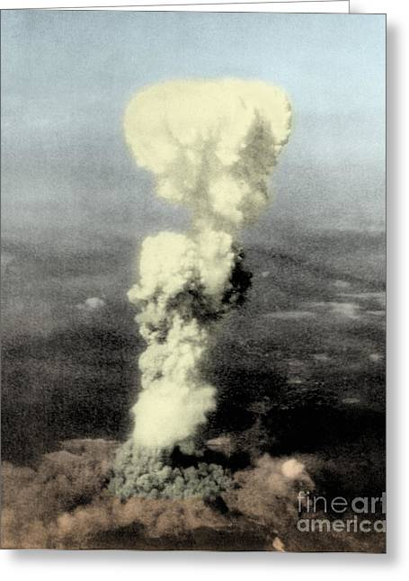 Little Boy Greeting Cards - Atomic Bombing Of Hiroshima Greeting Card by Science Source