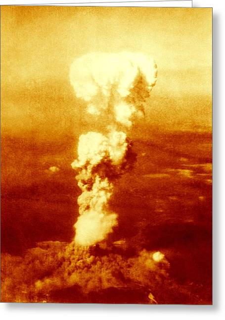 Atomic Burst Over Hiroshima, 1945 Greeting Card by Us National Archives And Records Administration