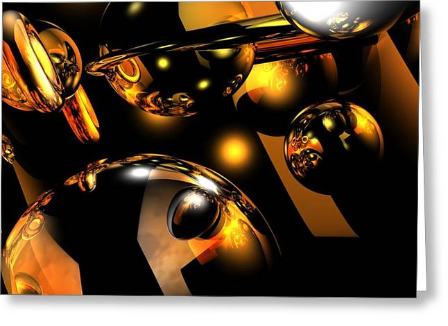 Locations Digital Art Greeting Cards - Atomic Greeting Card by Charlie Spear