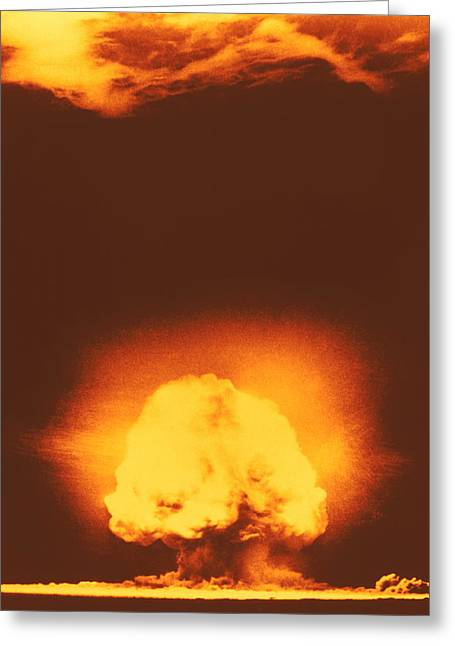 Atomic Bomb Greeting Cards - Atomic Explosion Greeting Card by Los Alamos National Laboratory