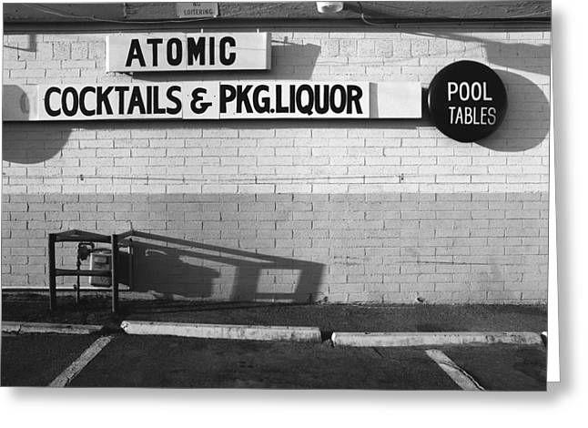Atomic Bomb Greeting Cards - Atomic Liquors Las Veags Greeting Card by Jan Faul