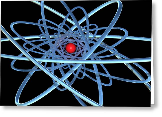 Atomic Structure Greeting Cards - Atomic Structure Greeting Card by Laguna Design