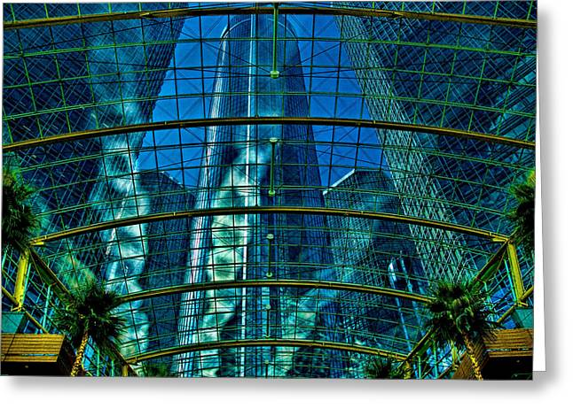 Best Sellers -  - Monolith Greeting Cards - Atrium GM Building Detroit Greeting Card by Chris Lord