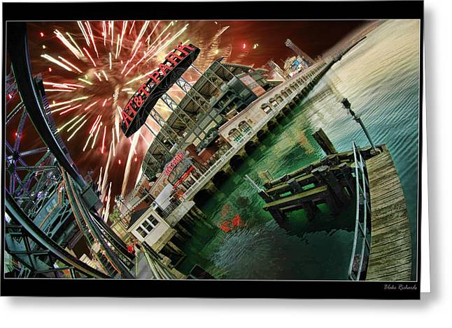 Att Park And Fire Works Greeting Card by Blake Richards