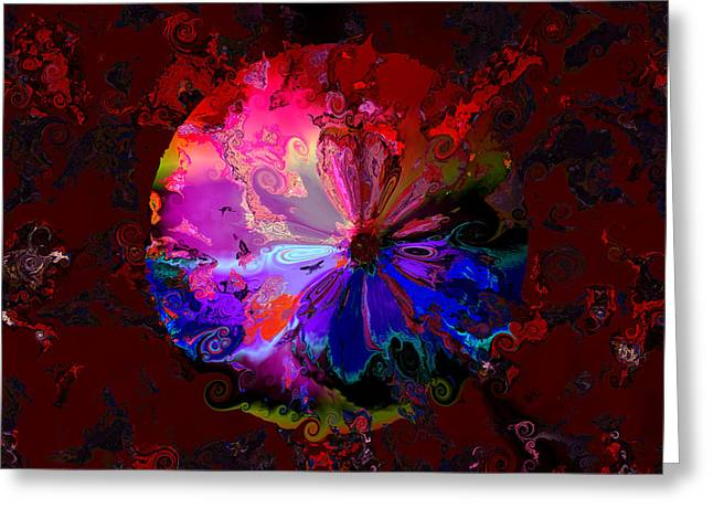 Generative Abstract Greeting Cards - Attacked by chaos Greeting Card by Claude McCoy